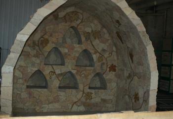 Винный погреб из натурального камня известняка
